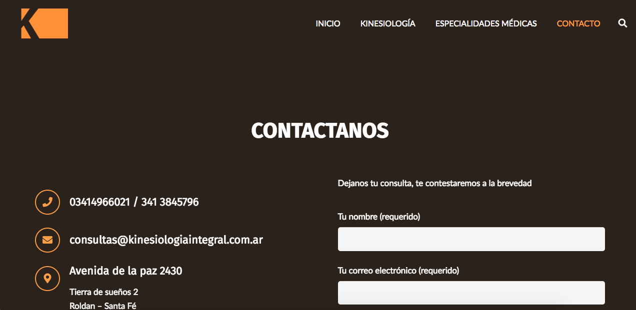 contacto kinesiologia integral
