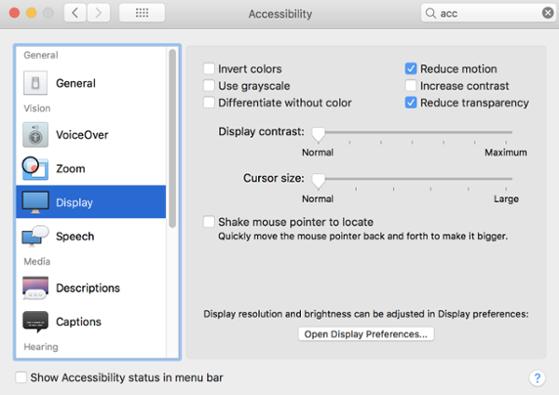 panel de control mac